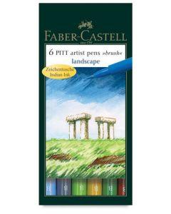 Pitt Artbrush Pens Pack of 6 Landscape [44642]