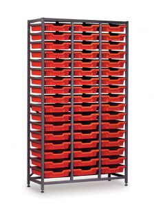 Gratnells 3625F1 Tall Treble Frame with 51 Shallow Trays [1540]