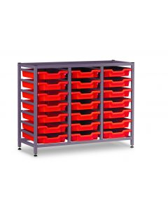 Gratnells 3325Ntl Treble Frame Set with 21 Shallow Trays [1546]