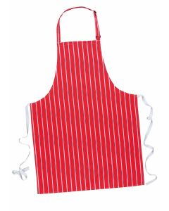 Butchers Apron (Red/White) [7025]