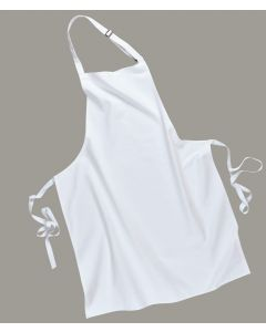 Cotton Bib Apron (White) [7028]