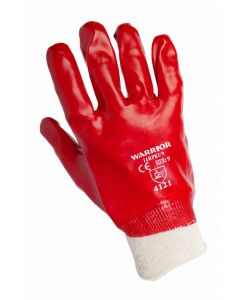 Red PVC Gloves Sizes 7 [4003]
