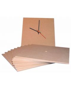 MDF Clock Face - Pack of 10 Square [4885]