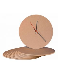 MDF Clock Face - Pack of 10 Round [4886]