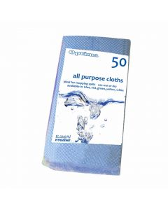 All-Purpose Cloth 60 x 30cm Blue (50 Pieces) [777653]