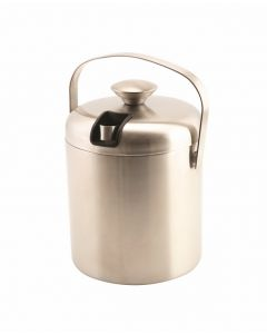 Genware Insulated S.Steel Ice Bucket & Tong 1.2L [778177]