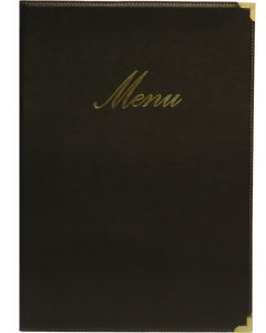 Classic A4 Menu Holder Black 4 Pages [778303]