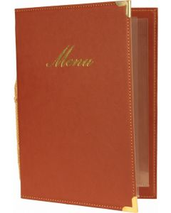 Classic A5 Menu Holder Wine Red 4 Pages [778306]
