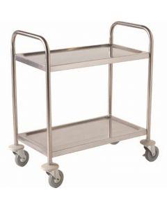 Fully Welded Stainless Steel Trolley - 2 Shelves [778814]