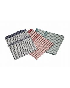 Cotton Check Ttowel 46 x 69cm 10 Pieces Mix Colours [778835]