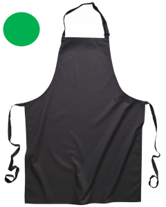 Bib Apron with Pockets Green [7370]