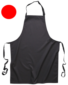 Bib Apron with Pockets Red [7372]