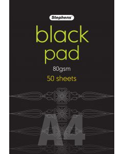 Black Pad A4 80gsm 50 Sheets Pack of 2 [944610]