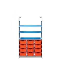 Gratnells Callero Combo Frame Set with 12 Deep Trays & 3 Flat Shelves [80454]