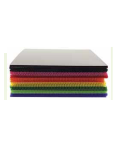Corriflute Corrugated Plastic Pack of 10 Assorted 605mm x 605mm x 4mm [45395]