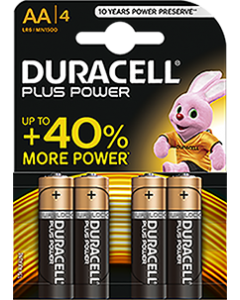 Batteries AA Pack of 4 Duracell [2124]
