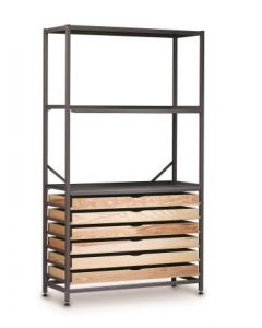Gratnells 3622E Tall Treble Column Set 6 Wood Trays [8954]