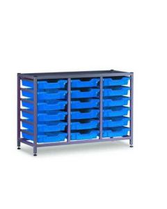 Gratnells 3325NTM Treble Frame Set with 18 Shallow Trays [3287]