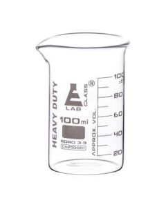 Labglass Beaker Heavy Duty 3.3. Boro. Glass 100ml [80057]