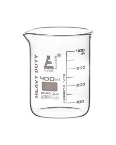 Labglass Beaker Heavy Duty 3.3. Boro. Glass 400ml [80059]