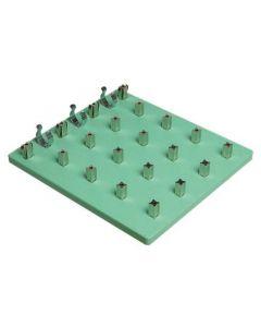 Locktronics 4 x 4 Baseboard 4mm Pillars & Battery Holders [2790]