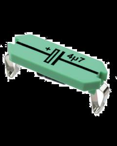 Locktronics Capacitor, 4.7uF, Electrolytic, 25V [2813]