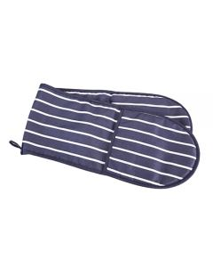 Double Oven Gloves Navy/White [77115]