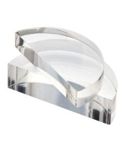 Acrylic Block Semi Circular 100 x 18mm [0139]