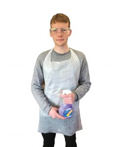Disposable Safety Aprons Roll of 200 x 2 Packs [9428]