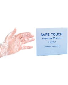 Disposable Gloves Polythene Large Box of 100 [3175]