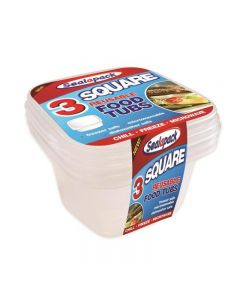Freezer, Microwave Tubs Pack of 3 Square [7131]