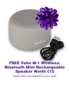 Veho M-1 Bluetooth/Wireless Speaker FREE GIFT [9980043]